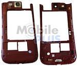 Samsung i9300 Средняя часть корпуса с окошком камеры, Garnet Red, original (PN:GH98-23341C)