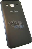 Батарейная крышка для Samsung J200H Galaxy J2 (Black Leather)