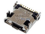 Роз'єм MicroUSB Samsung N7100, i9500, SM-C101, original (PN:3722-003632)