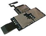 Плата с разъемами SIM и MicroSD HTC Desire V, original (PN:51H20466-02M)
