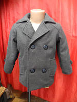 Детское демисезонное пальто из шерсти р.104-122 для мальчиков