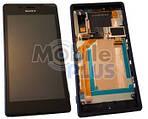 Sony D2403, D2406 Передняя панель с сенсором и дисплеем, Black, original (PN:78P7550002N)
