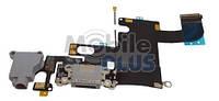 Шлейф с разъемом зарядки и наушников для Apple iPhone 6 Space Grey
