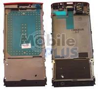 Nokia X3-02 Передняя панель с динамиком, коннектором наушников, Red, original (PN:0259171)