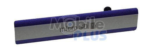 Sony D6503 Заглушка гнізда для картки MicroSD, Purple, original (PN:1284-6794)