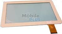 Сенсорный экран (тачскрин) для планшета 10,1 дюймов Ampe A10 (Model: DH-1019A1-PG-FPC075) White