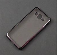 Чехол TPU для Samsung Galaxy J2 Prime G532f прозрачный графитовый хром