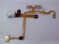 Шлейф для iPhone 3G с разъемом наушников, кнопками громкости, включения, перекл Вибро white