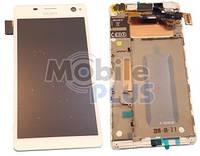 Sony E5303, E5306, E5333, E5343 Передняя панель с дисплеем и сенсором, White, original (PN:A/8CS-59160-0002)