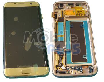 Samsung SM-G935F Galaxy S7 Edge Дисплейный модуль с сенсором, Gold, original (PN:GH97-18533C)