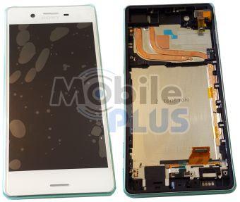 Sony F8132 Xperia X Performance Дисплейный модуль с сенсорным экраном и передней панелью, White, original
