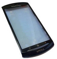 Sony Ericsson MT15i, MT11i Передняя панель, Black-Blue, original (PN:1239-7135)