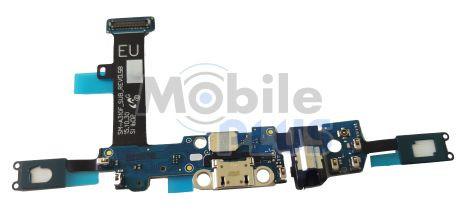 Шлейф для Samsung A310 Galaxy с разъемом MicroUSB, наушников, микрофоном, кнопкой Home