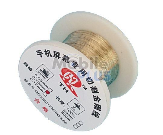 Струна для снятия стекла сенсора молибденовая Gold (0.1mm * 50m)