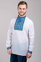 "Вышиванка мужская ""Тарас"" (синий орнамент), р.44-54"