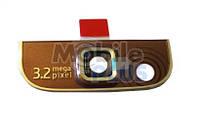 Nokia 3710f Верхняя задняя панель со стеклом камеры, Pink, original (PN:0255092)