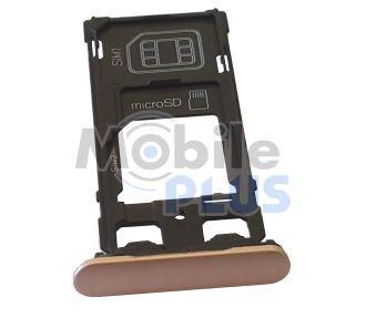 Sony F5122 Xperia X Держатель SIM, SIM2/MicroSD, Rose, original (PN:1302-4838)