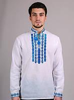 Мужская Сорочка-Вышиванка (синий орнамент), р.44-54