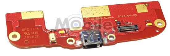 Разъем MicroUSB HTC Desire 500 Z4 (506E) на плате, original (PN:51H00898-05M)