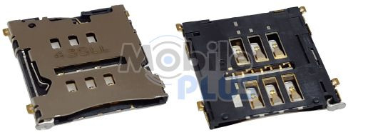 Разъем SIM LG D802 G2, original (PN:EAG63452601)