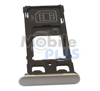 Sony F5122 Xperia X Держатель SIM, SIM2/MicroSD, White, original (PN:1302-4835)