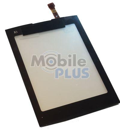 Сенсорный экран (тачскрин) для Nokia X3-02 Black copy