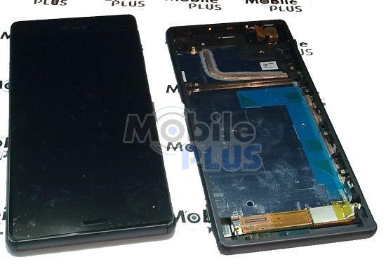 Sony D6603, D6643, D6653 Передняя панель с сенсором и дисплеем, Black, original (PN:1290-6073)