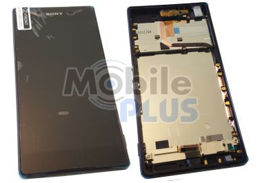 Sony E6533 Xperia Z3+ Dual Передняя панель с дисплеем и сенсором, Black, original (PN:1293-8465)