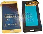 Samsung J710 Galaxy J7 2016 Дисплейный модуль (дисплей с тачскрином), Gold, original (PN:GH97-18855A)