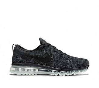Мужские кроссовки  Nike Flyknit Air Max 'Black Dark Grey Anthracite'