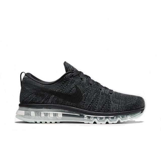 Мужские кроссовки  Nike Flyknit Air Max 'Black Dark Grey Anthracite'