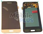 Samsung J320 Galaxy J3 Duos Дисплейный модуль (дисплей с тачскрином), Gold, original (PN:GH97-18414B)
