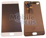Дисплей (LCD) для Meizu Metal (M57a) з сенсорним екраном White