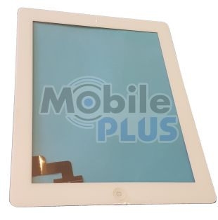 Сенсорный экран со стеклом (Touchscreen + Len) iPad 2 White orig с кнопкой Home, стикерами