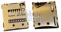 Разъем MicroSD Sony D5303, D5306, D5322, SGP511, SGP521, original (PN:1254-2021)