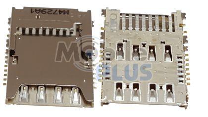 Разъем SIM-карты Samsung i9200, i9205, original (PN:3709-001806)