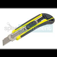Нож усиленный прорезной с лезвием 18 мм HTOOLS 17D183