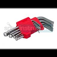 Набор Г-образных ключей INTERTOOL HT-0605 применяется для завинчивания болтов шестигранной формы. В набор входит 9 ключ