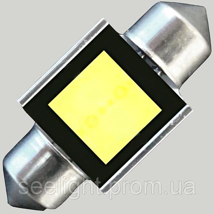 Светодиодная автомобильная лампа в подсветку  SV8,5(C5W)-31mm-2W-COB, фото 2
