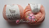 Пряжа Baby cotton XL Gazzal Бэби коттон XL Газал, 3412, персик