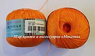 Пряжа Ажурная Пехорка, № 485, желто-оранжевый