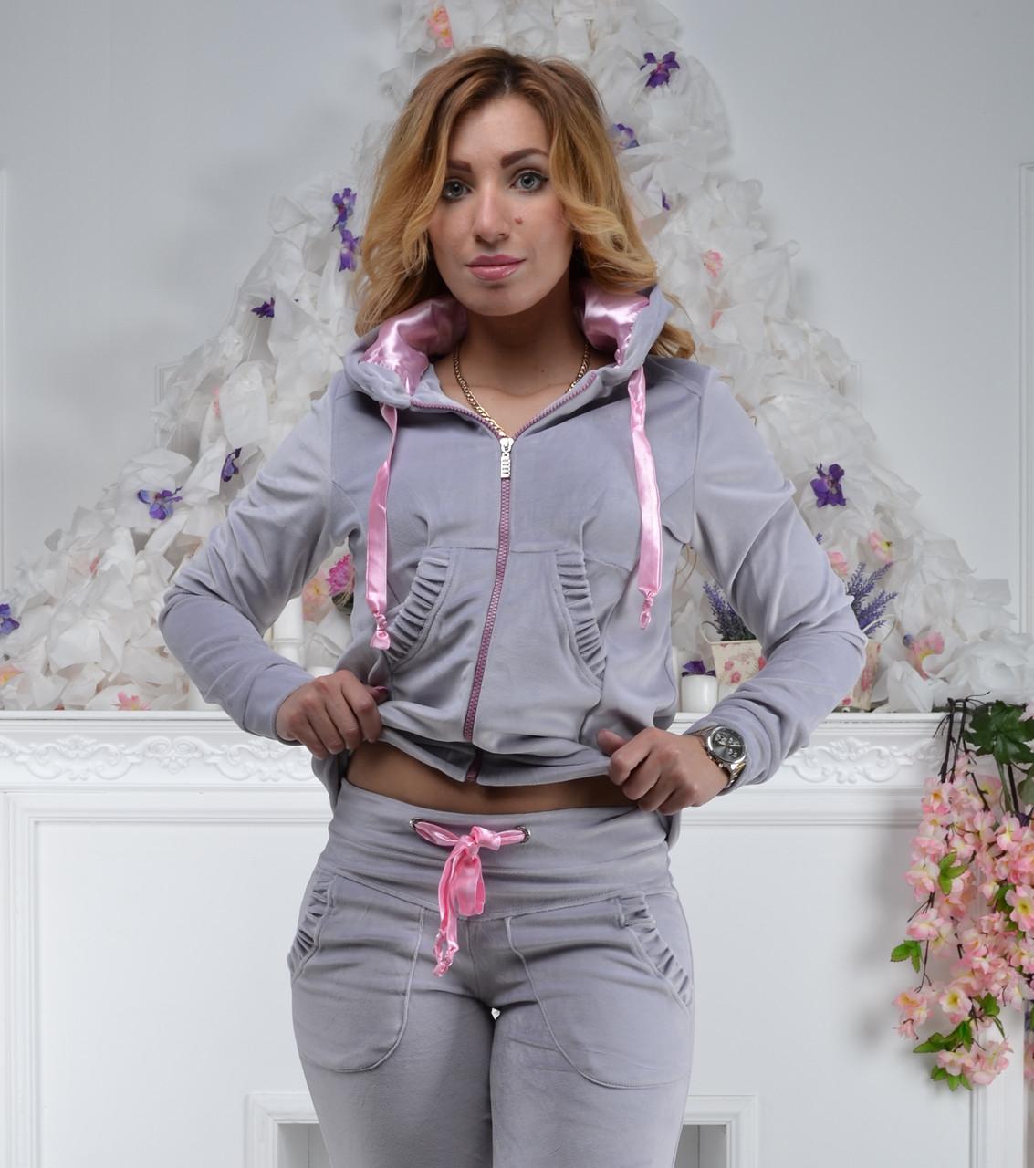 Женский спортивный костюм из плюша, разм 42,44,46,48, 2 цвета