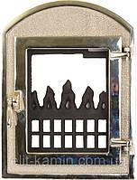 Каминные дверцы со стеклом Delta Dali (хром) (350х470), фото 1