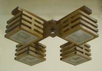 Люстра 4-х ламповая, деревянная, спальня, кухня, зал, гостиная 18622-2