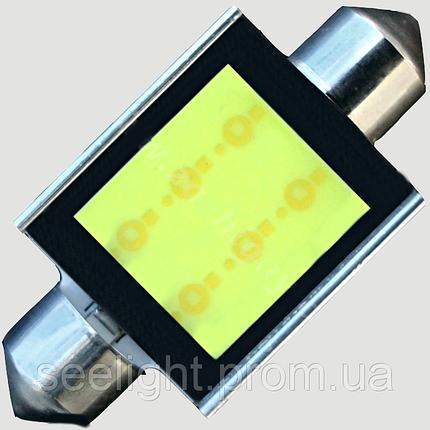 Светодиодная автомобильная лампа в подсветку салона SV8,5(C5W)-39mm-6W-COB, фото 2