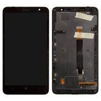 Дисплей для мобильного телефона Nokia 1320 Lumia, черный, с сенсорным экраном, с рамкой