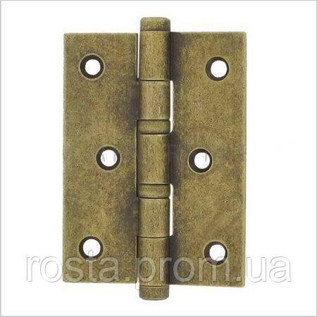 Дверна петля 102х76х2,5 мм, універсальна, допустиме навантаження на 2 петлі 60 кг.