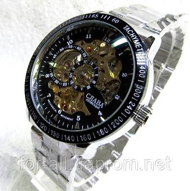 Мужские механические часы скелетон Слава С4638 купить от