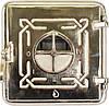 Печные дверцы Delta Domino (хром) (265х265)