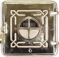 Печные дверцы Delta Domino (хром) (265х265), фото 1